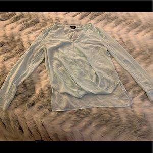 Mossimo Light Mint Twist Front Sheet Long Sleeve